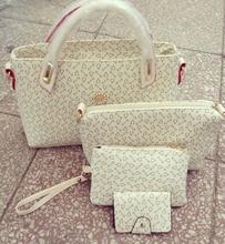 Women 3 Piece Tote Bag Pu Leather Handbag Purse Bags Set