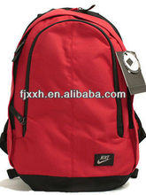 2012 latest style name brand red backpack bags for teenagers