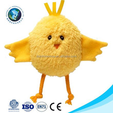 2015 Yellow chicken design plush animal fridge magnet toy with magnet cheap cute stuffed magnet plush animal