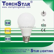 High transmission 5W SMD E27 LED light bulb