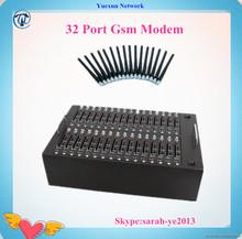 32 port multi sim card gsm modem mini gsm modem usb at command usb