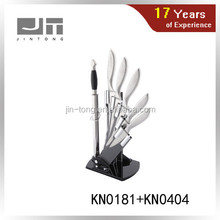 5pcs kitchen knife set and sharpener with acrylic stand