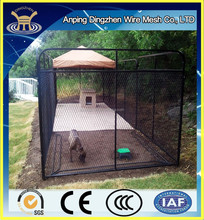decorative using a dog kennel for outdoor run