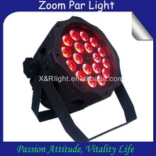 Discotheque decoration 18X10w RGBW led zoom par