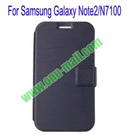 Ultrathin Magnetic Folio Stand Dormancy Case Cover for Samsung Galaxy Note2/N7100