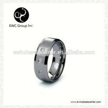 domed surface zircon tungsten ring