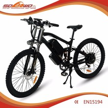 500W full suspension electric motorcycle with 48V 10.4ah dismounted battery