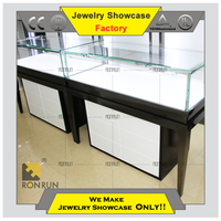 2015 New design jewelry glass display case for exhibition and shop