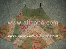 Algodón tie dye& 32 pulgadas largas faldas para las niñas& para mujer faldas de algodón tie dye étnico hecho faldas de colores