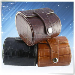 Year promotion leather leather watch travel case manufacture