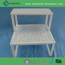 2 layer food storage household shelf furnishing