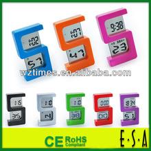 "Hot New Products For 2015 ""S"" type digital clock,desktop electronic digital clock,LCD alarm clock function desktop clock G20B001"