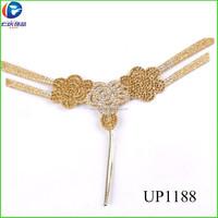 UP1188 Plating Gold Slipper Shoe Upper Material Shoe Upper For Lady