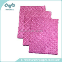 Diamond Check Kitchen Towel Rosy Microfiber Cleaning Cloth