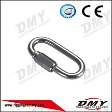 High Tensile certification safety lifting Stainless Steel Quick Link