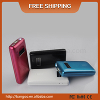 5000mAh Wholesales Newest Backup Mobile Power Bank with LED Flashlight for Mobile Device