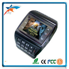 Unlocked Wrist GSM phone ET-1 FM radio watch phone touch screen Single card telephone