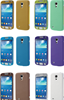 Full-screen Touchable Brushed Metal + Plastic Flip Cover for Samsung Galaxy S4 mini I9190