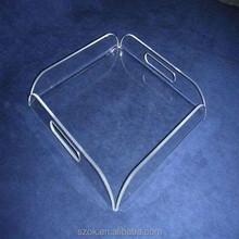 transparent plastic acrylic decorative serving tray for wedding