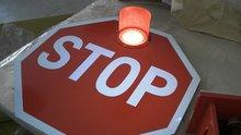 traffic warning sign solar power led traffic sign solar LED road stop signs