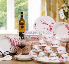 Atacado de porcelana pratos de jantar barato prato de jantar em cerâmica branco tigela de cerâmica com tampa