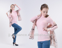Blue Winter Formal Tops Ladies Pullover 2015 With Collagen Fiber