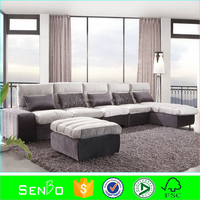 2015latest modern luxury sofa / mcjessi modern living room fabric sofa / patio furniture / sectional sofa armrest