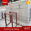 Wooden Grey Natural Flooring Polished Marble