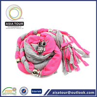 Hot Sale Knitted Fabric Cross Jewelry Scarf Tube Jewelry Sexy Faux Plain Cotton Scarf