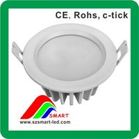 China Supplier Plastic Triac dimmable 6-14W CE RCM SAA led downlight