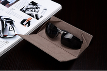 folding sunglasses/glasses case leather 2015 new arrival noble business men case for sunglasses/glasses