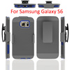 3 in 1 Armor Shell Holster with Belt Swiivel Clip for samsung S6 Slim Hard Case Combo with Kickstand for Samsung Galaxy S6