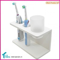 High Quality Cheap New Products Home Designs Table Top Toothbrush Storage Container, Clear Toothbrush Storage System