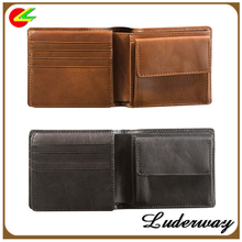 Famous brand multi-function tan coin pocket black wallet men's