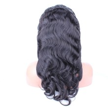 Sunny Queen body wave Brazilian virgin human hair lace front wig for black women