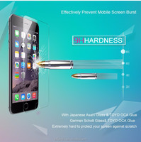 China supplier 2.5D 9H 0.3MM tempered glass screen protector for iPhone 6/iPhone 6 plus tempered glass screen protector