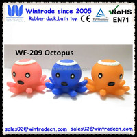 Floating rubber octopus animal bath toy for kids