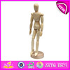 Flexible human manikin doll,funny wooden drawing manikin,mannequin adjustable doll,Wooden little dummy mannequin doll W06D041-C