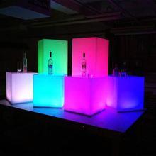 moderna mesa de bar acrílico, claro tabla de la barra liderada