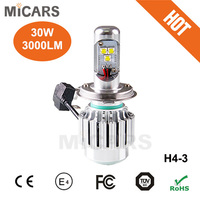 OEM Supplier Hi lo h4 car led light/auto led headlight
