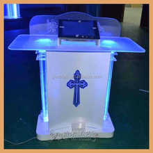 GH-S021 Hot sale Plexiglass Church Pulpit With Led Light