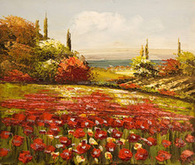 Fast shipping talented artists hand painted high quality scenery knife oil painting picture for wall art