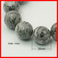 Natural Marble Beads Strands(G-G099-20mm-27)