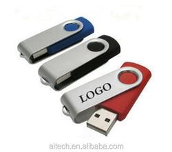 Cheap 1gb 2gb 4gb 8gb 16gb 32gb usb 3.0 swivel usb flash drive stick memory pen drive ,free color custom print logo printing