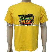 OEM service latest design printed 2012 yellow young men t-shirt