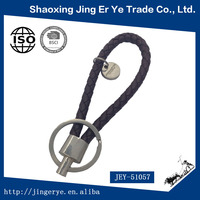 Promotion Custom Logo Braided Leather Keychain