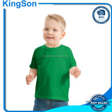 Plain dyed round-neck cotton baby t-shirt in short sleeve with high quality