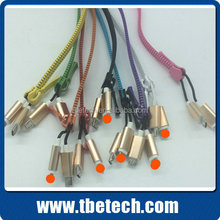 2 in 1 zipper charger cable for iPhone 5 USB cable for Android phones