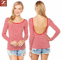 high quality red white striped t-shirts