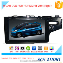 AGS special 9'' touch screen car dvd player for HONDA FIT 2014 (RIGHT)